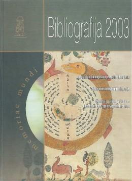 Bibliografija 2003
