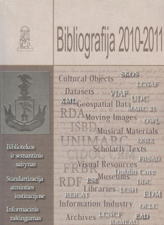 Bibliografija 2010–2011